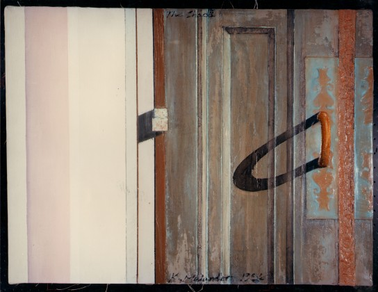 Bronze door study: oil paint on canvas<br />