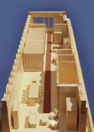 Loft renovation study model: basswood model<br />